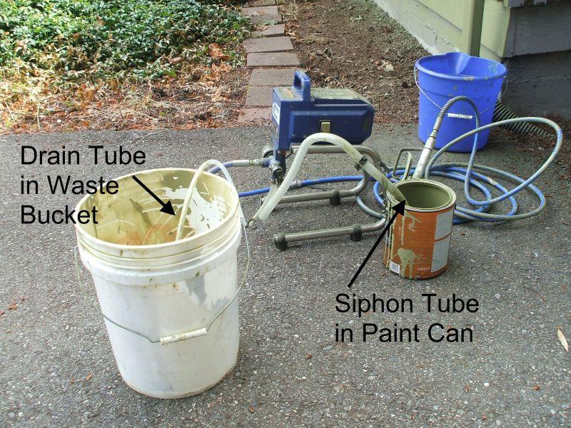 Spray painting buckets