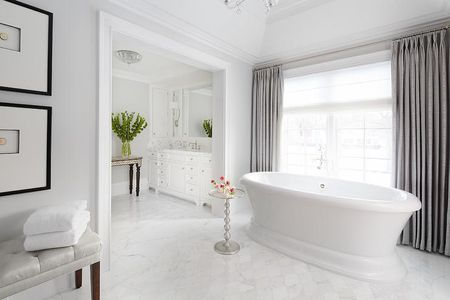 Ious White And Gray Bathroom