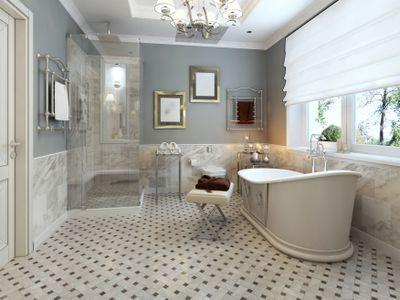 Blue provencal bathroom concept