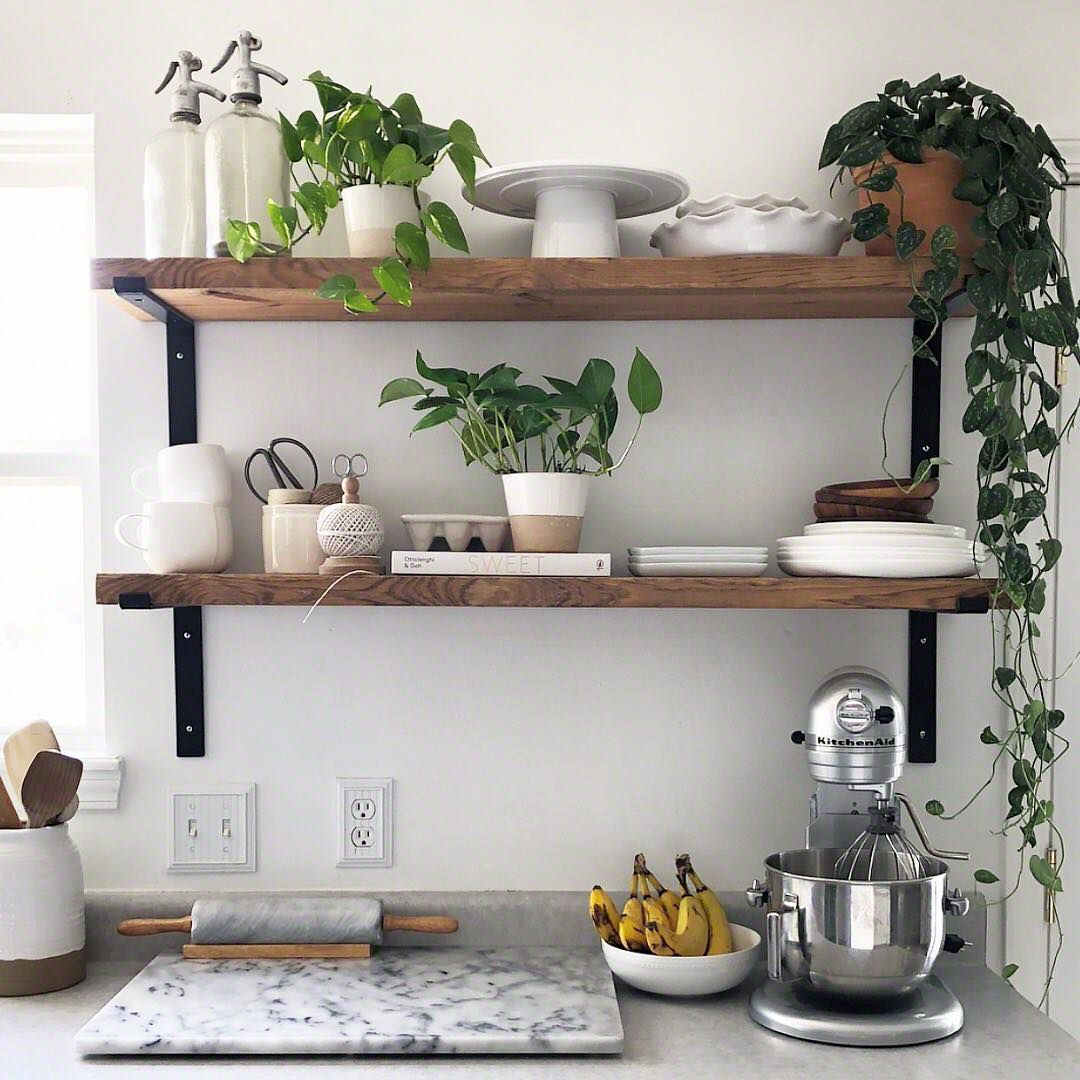 10 beautiful open kitchen shelving ideas - Kitchen Bookshelves