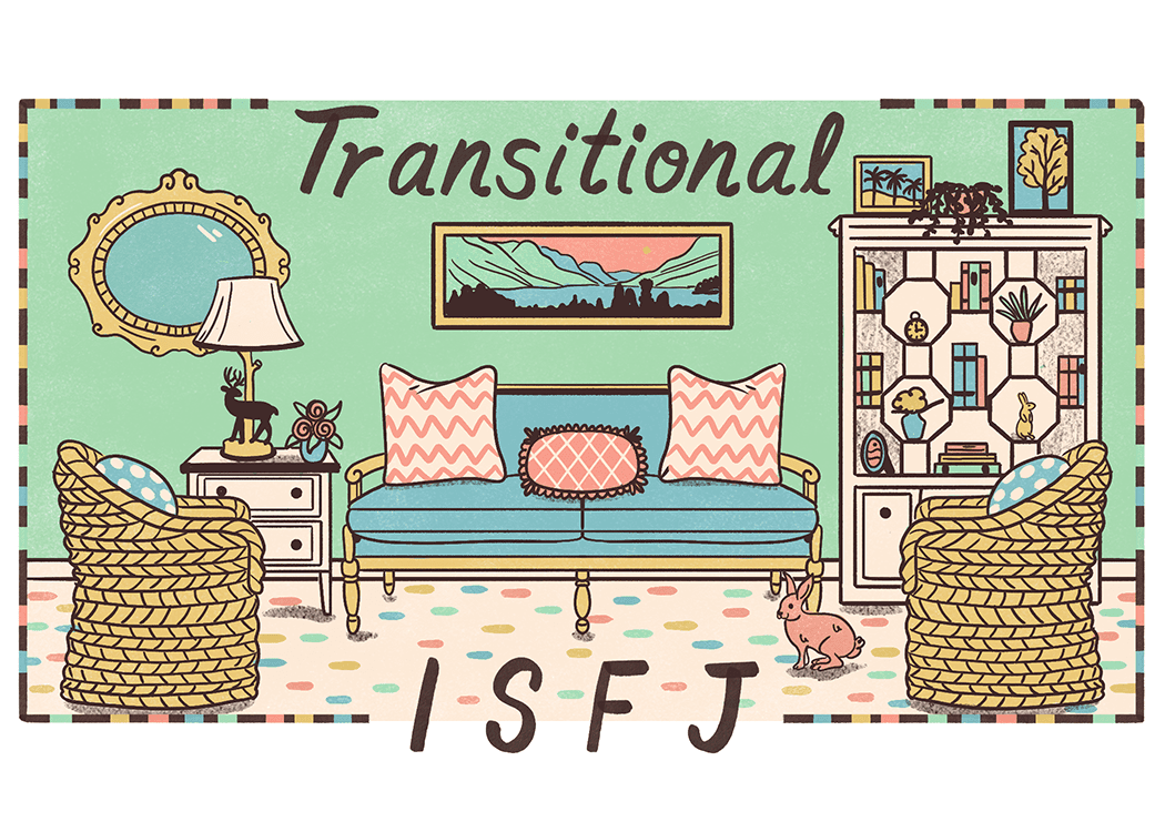An illustration of the ideal home for an ISFJ