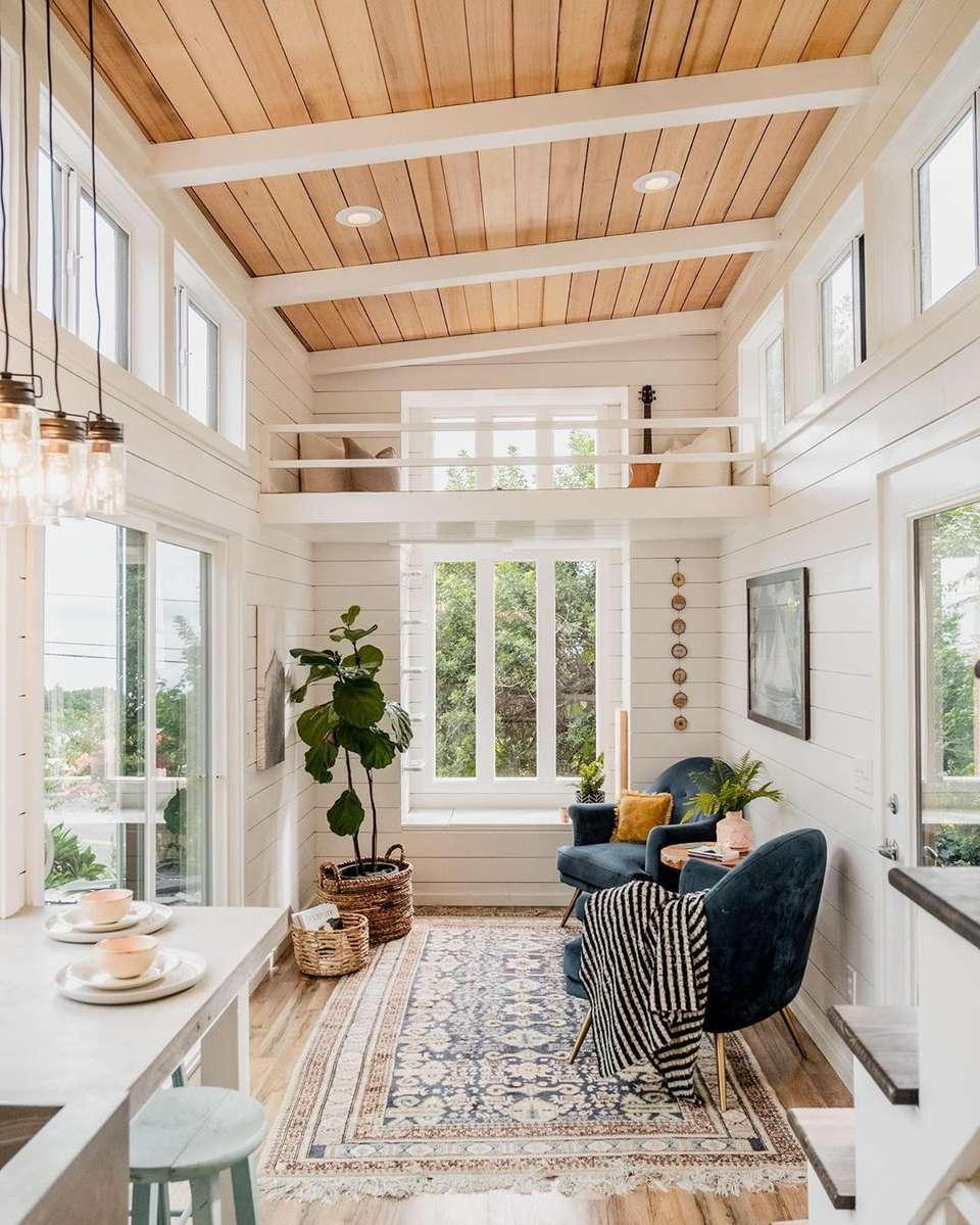 Tiny house with sun room