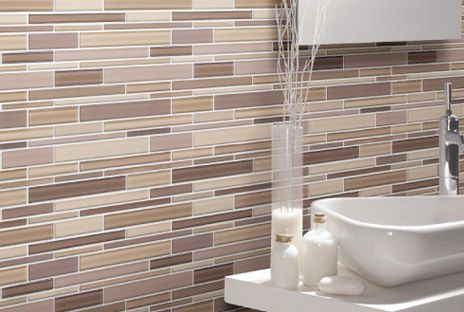 tile designs for bathrooms - black and white