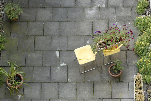 concrete paver patio