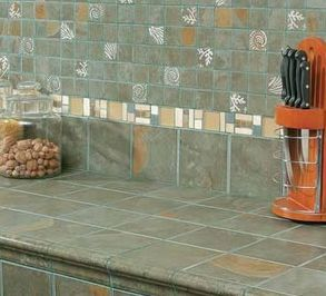 JawDropping Tile Ideas For Your Kitchen - 2 x 2 inch ceramic tiles