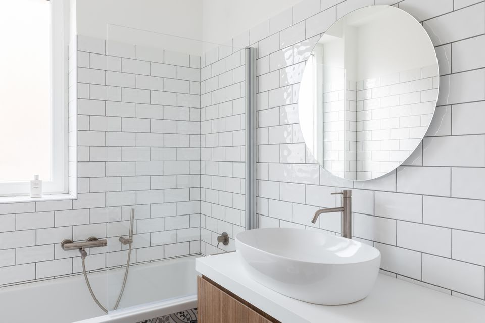 small bathroom in a tiny home
