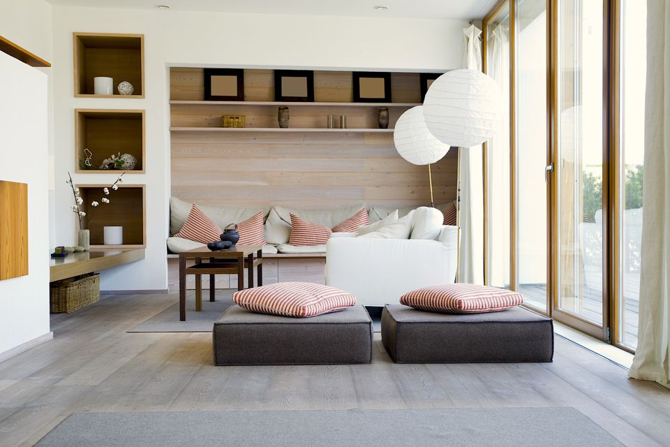 Natural wood elements home