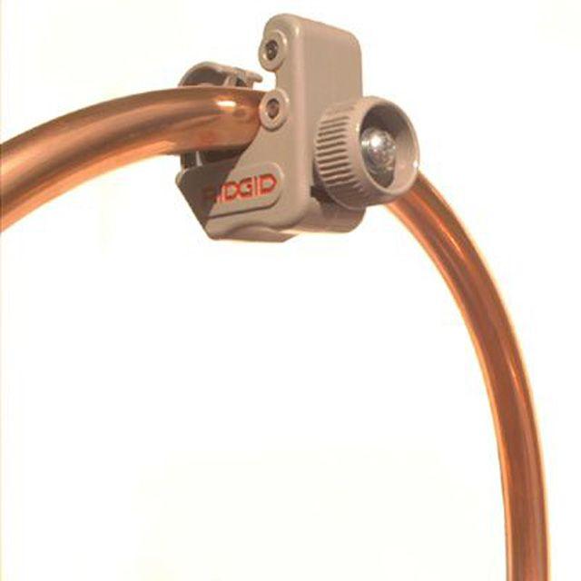 Cutting copper tubing with a pipe-cutter