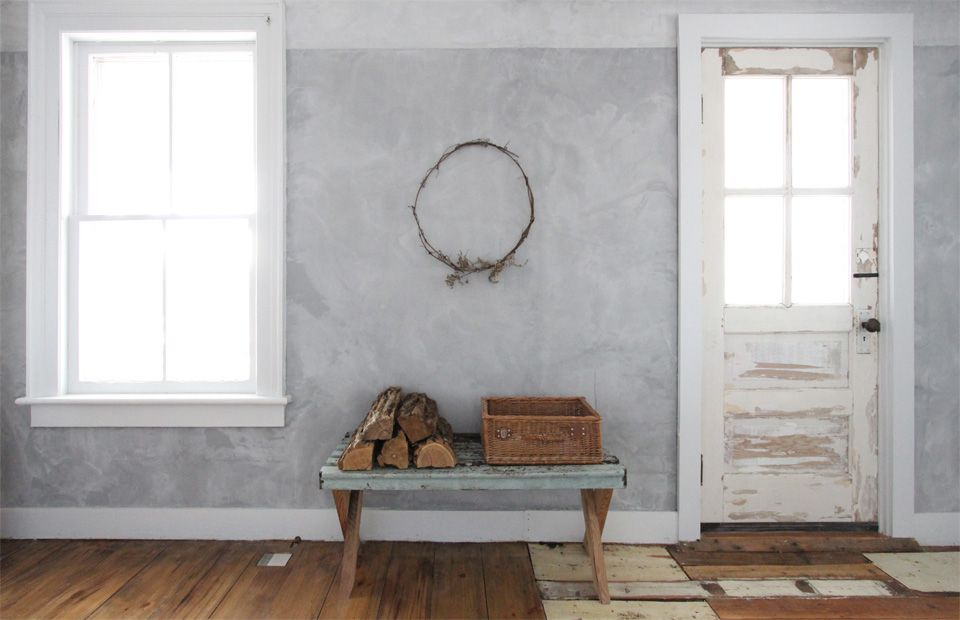 Entryway in a rustic cottage