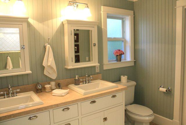 Beadboard Bathroom Design Ideas, White Beadboard Bathroom Wall Cabinet