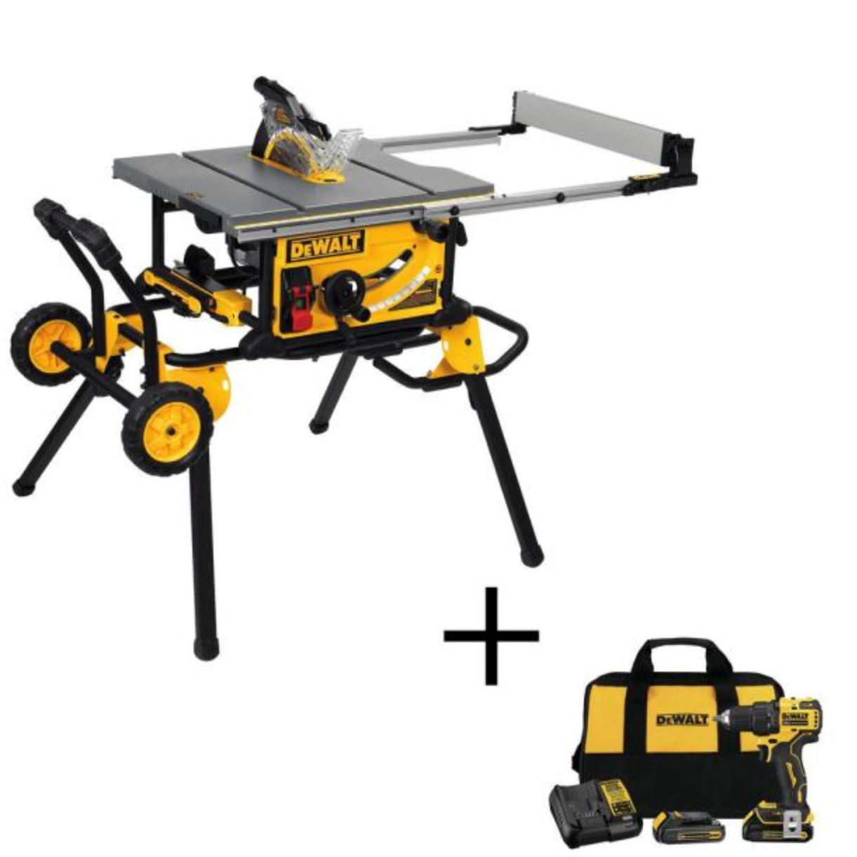 DeWalt Table Saw with Rolling Stand