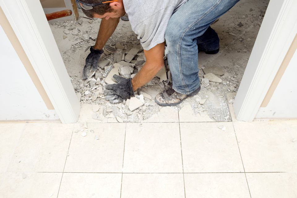 Removing ceramic tile