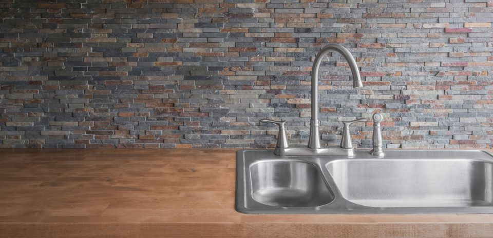 Drop in style kitchen sink
