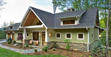 Craftsman House Green Exterior Paint