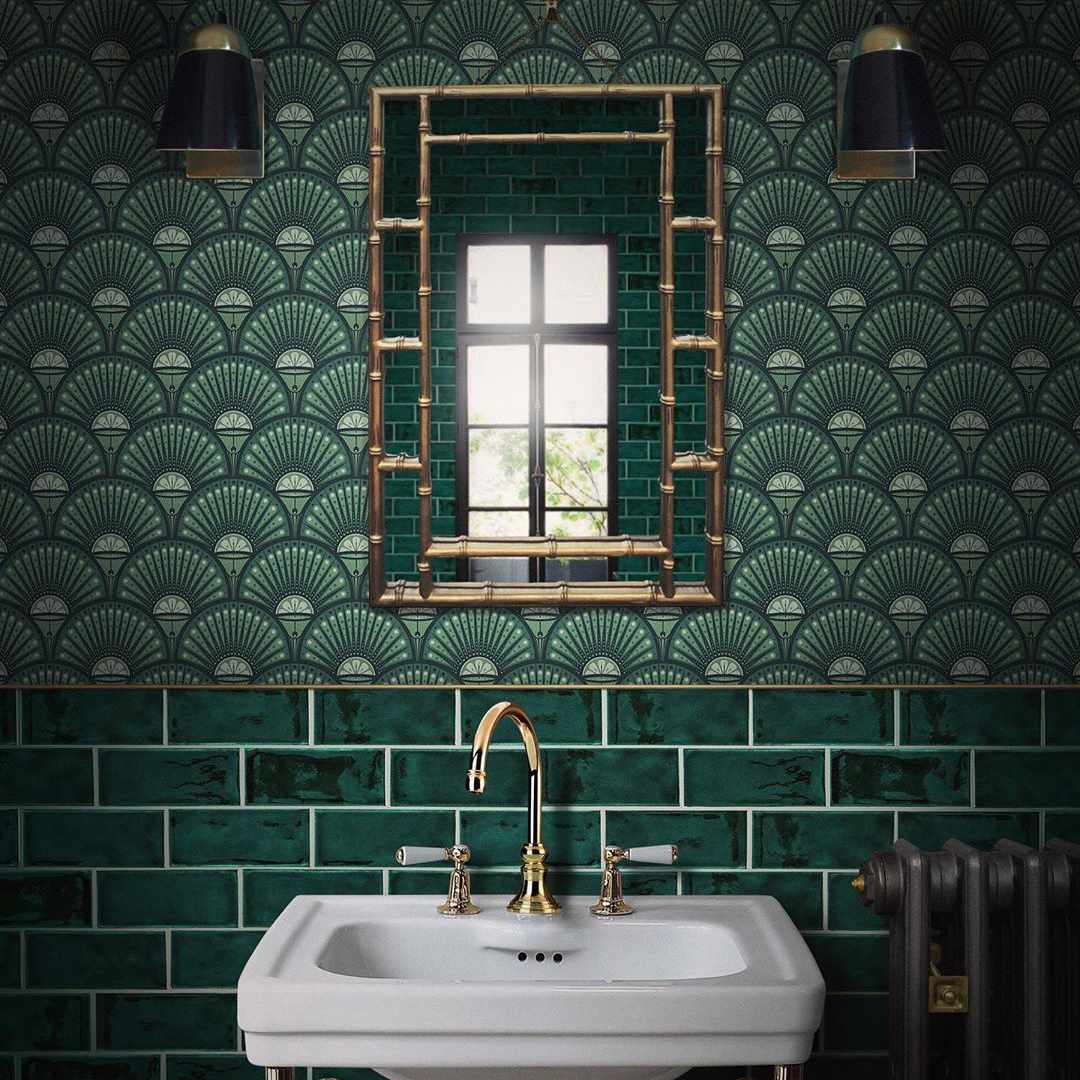 Ideas For Gorgeous Green Bathrooms