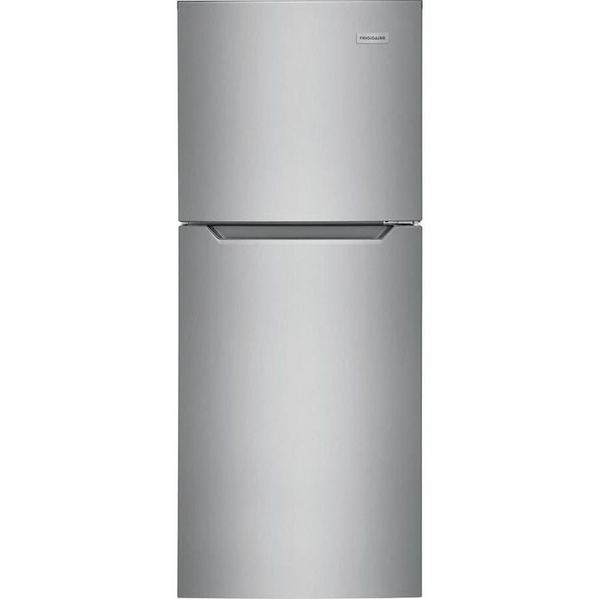 The Frigidaire FFET1022UV 10.1 cu. ft. Top Freezer Refrigerator is a great, compact option.