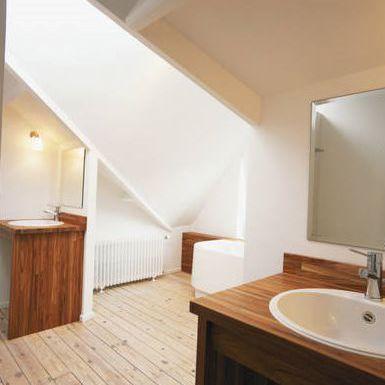 Master Bathroom Idea Natural Wood