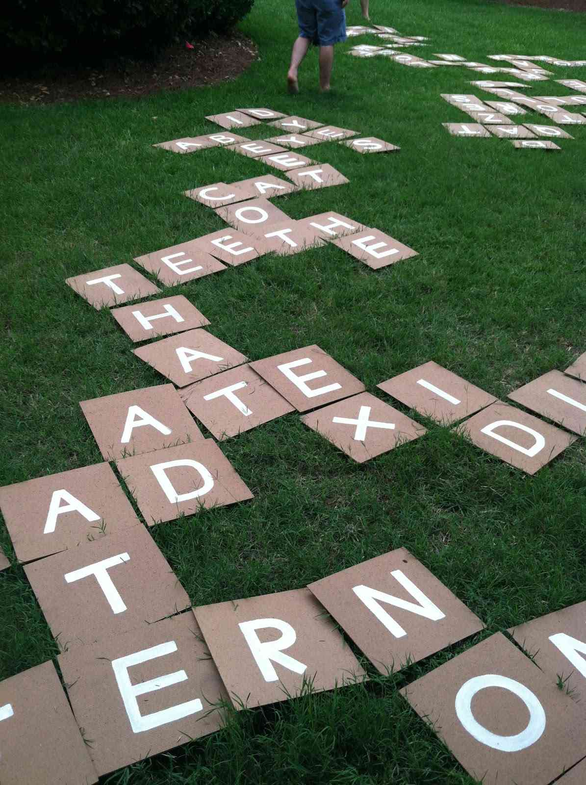 DIY Lawn Scrabble Game