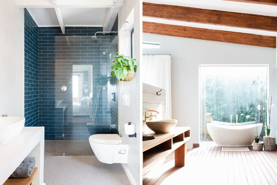 walk-in shower and bathtub side by side comparison