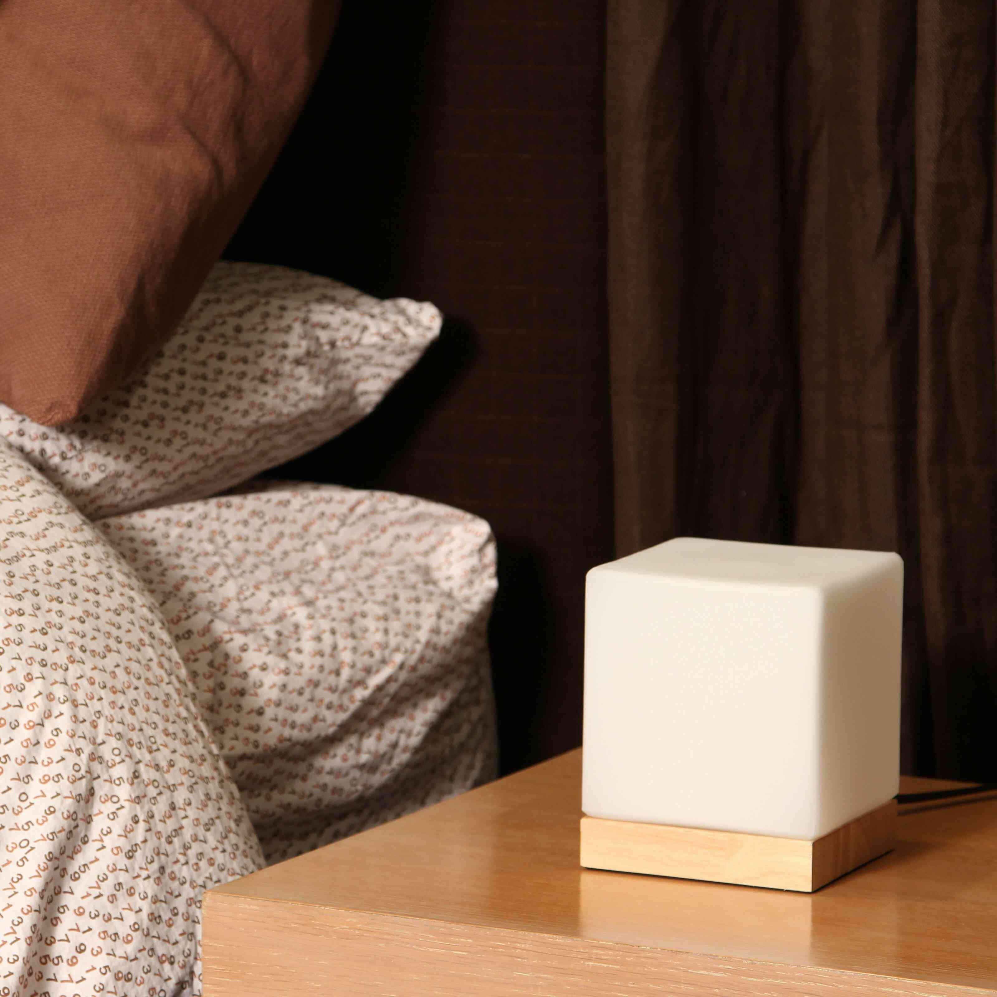 "Anwan 6.3"" Natural Wood Bedside Table Lamp"