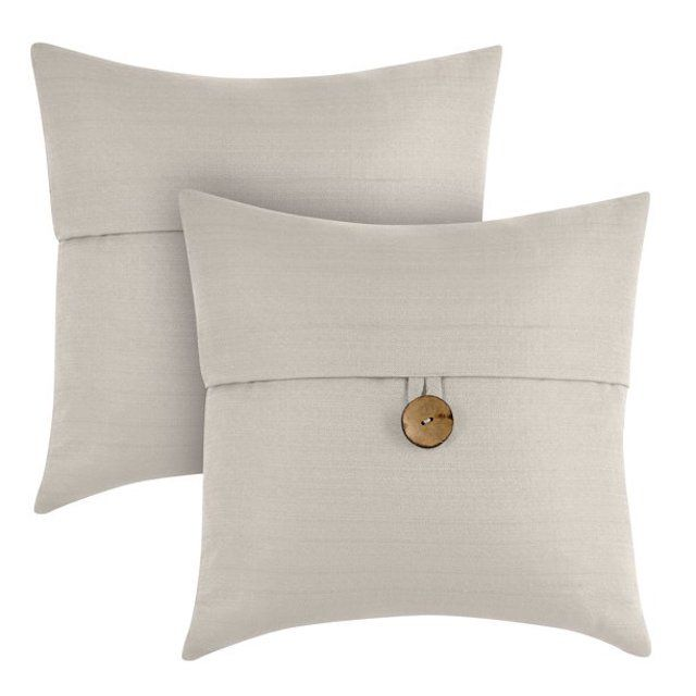 Better Homes & Gardens Button Square Decorative Throw Pillow