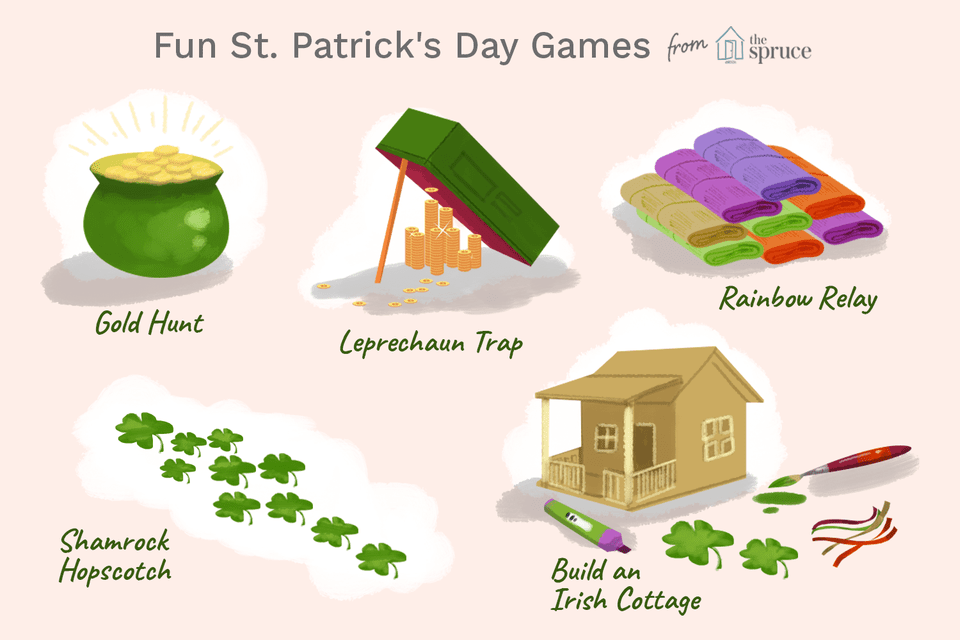 illustration of fun st. patrick's day games to play
