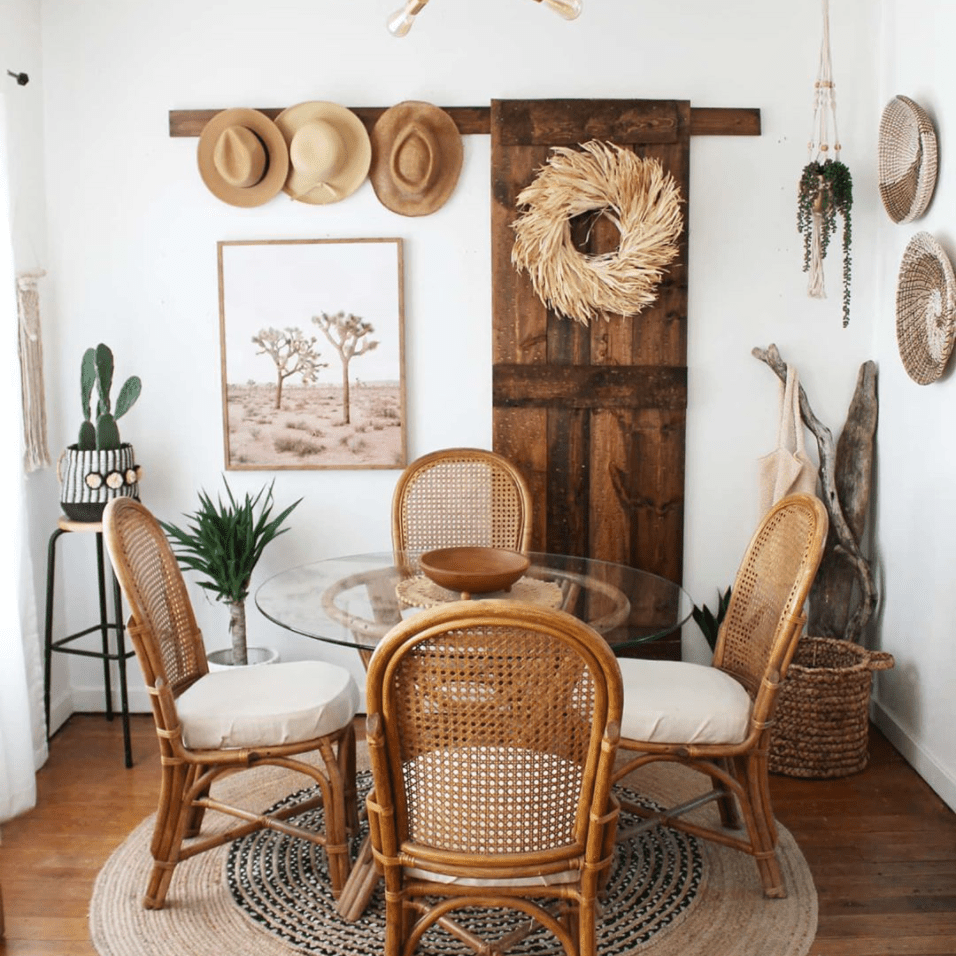 A southwestern style dining area.