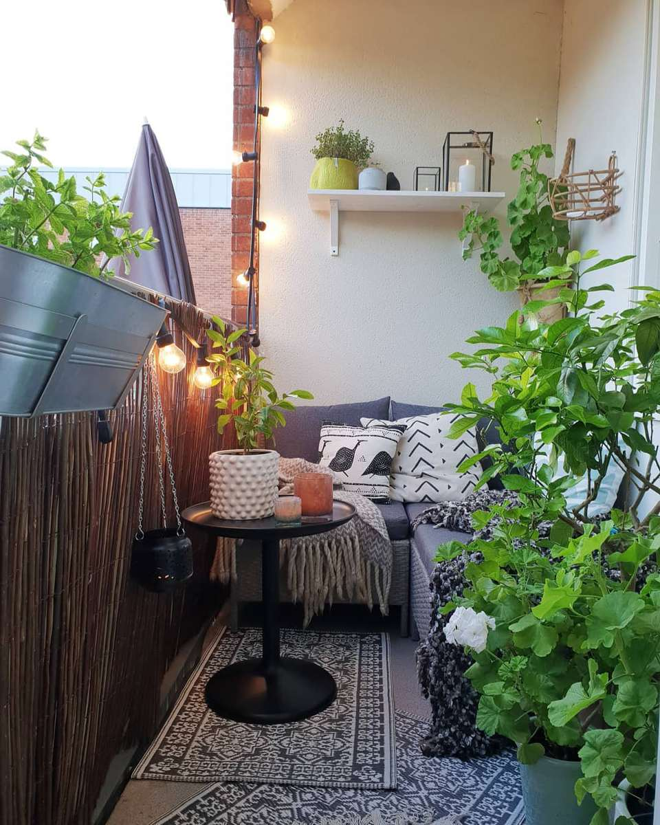 Cute Apartment Balcony: 24 Ways To Make The Most Of Your Tiny Apartment Balcony