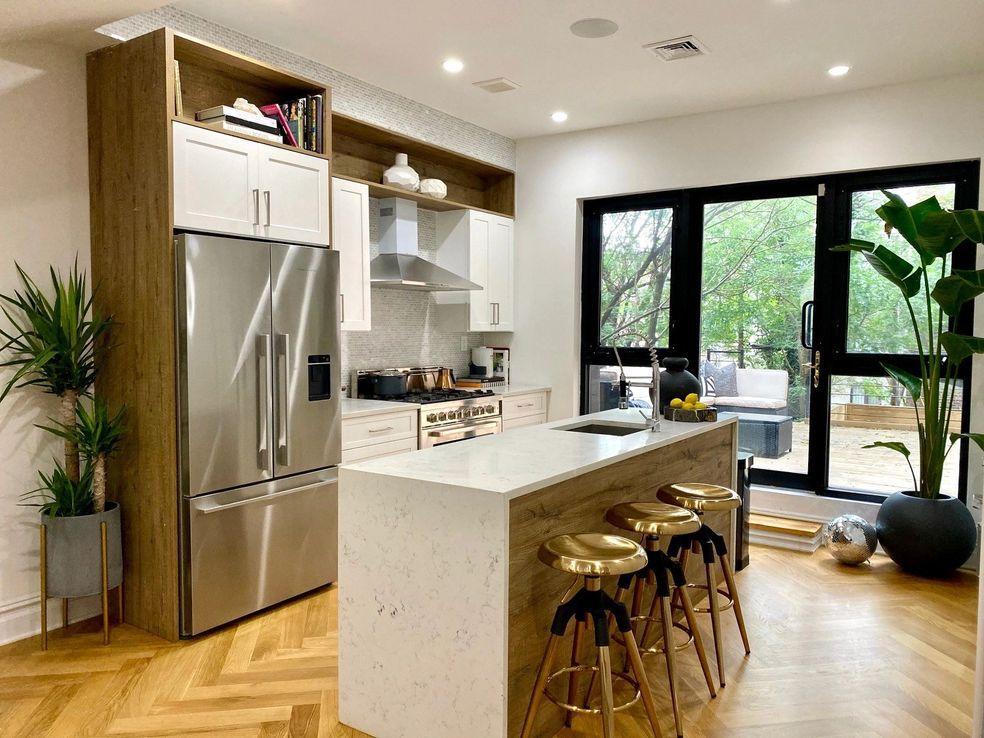 Kitchen Waterfall Laminate Countertop