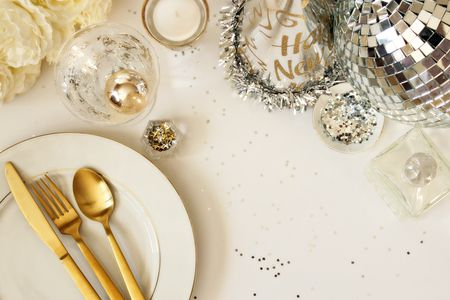 a chic minimal new years eve party