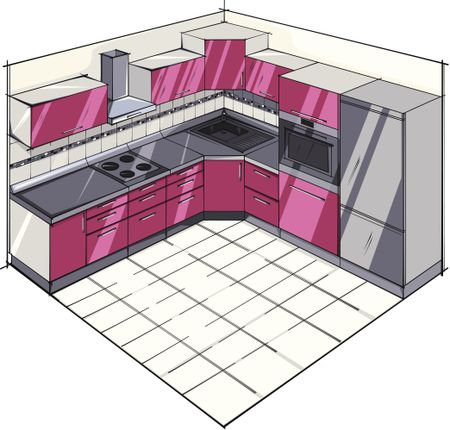 Basic L Shaped Kitchen Plan