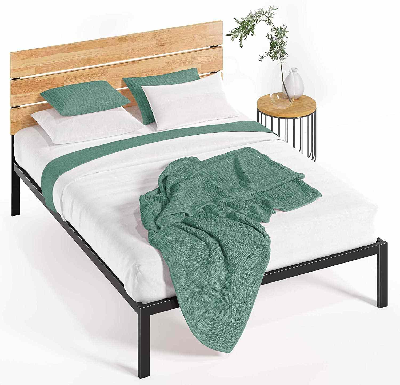 Zinus Paul Metal & Wood Platform Bed
