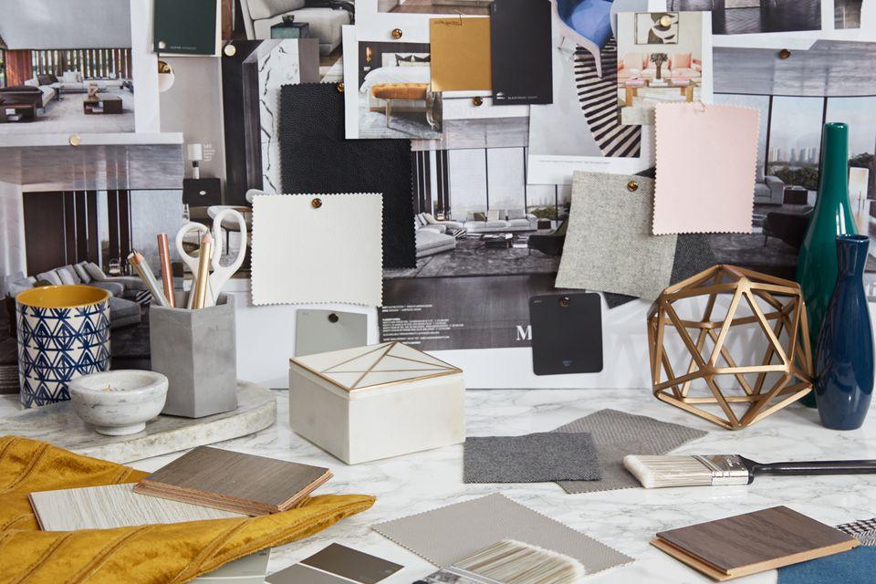 a contemporary design mood board