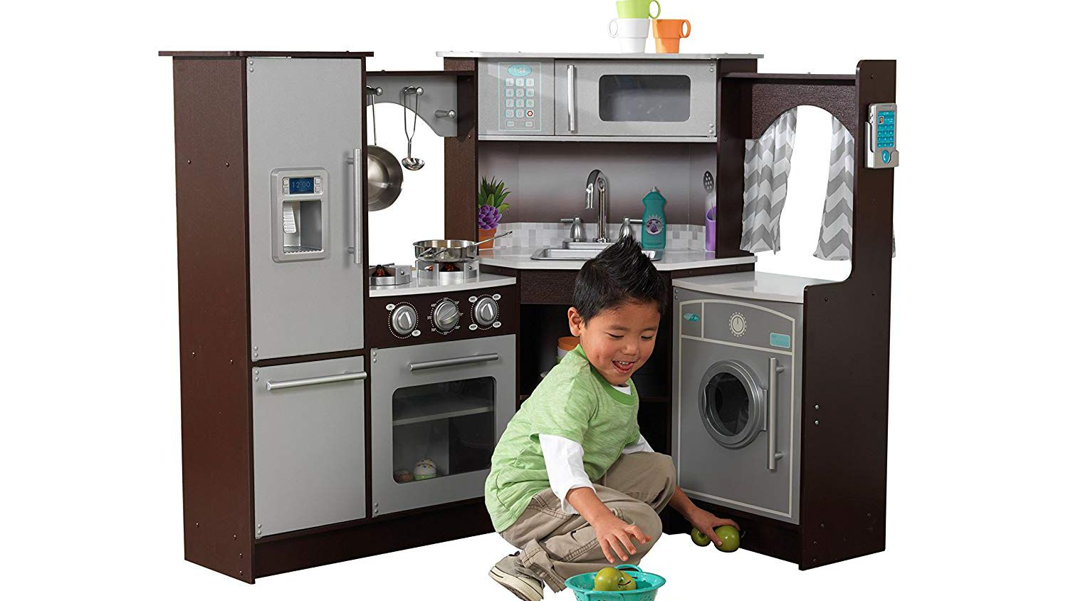 MY Kitchen Play Set Microwave Battery Operated Includes 11 Doll