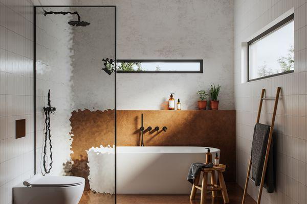 Interior of bathroom in 3d