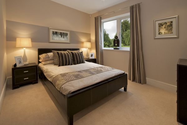 Picture of bedroom with brown palette