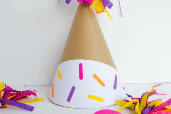 DIY Ice Cream Cone Party Hats