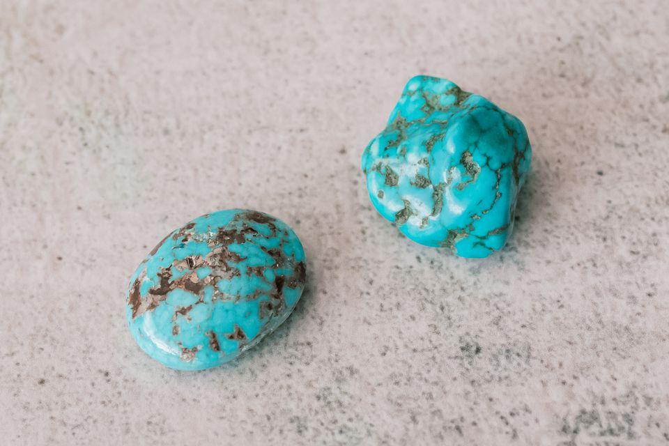 duo of turquoise stones