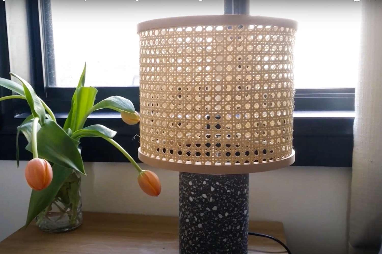 DIY Cane Lamp Shade