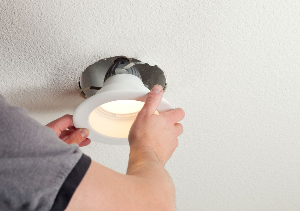 Installing a recessed light in a ceiling