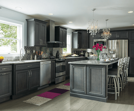 Charcoal Gray Is A Glamorous Kitchen Choice Decora Cabinets