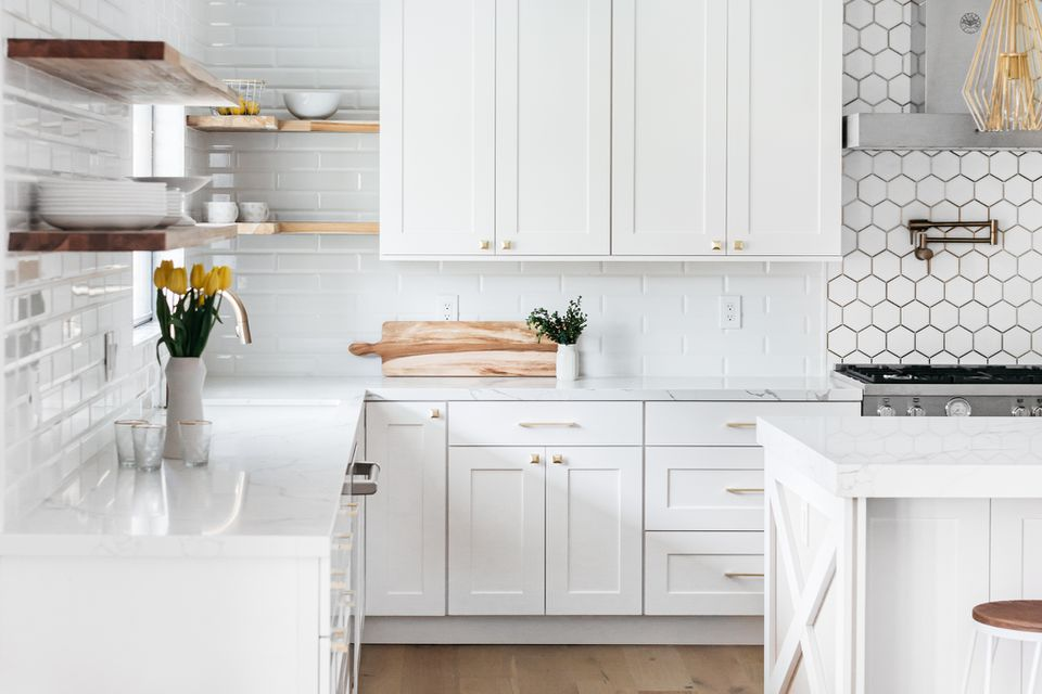 kitchen with upper and lower cabinets