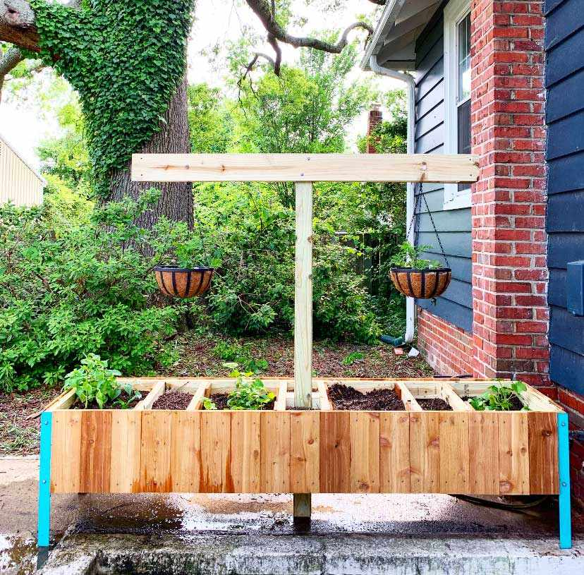 9 Free Raised Planter Box Plans For, Raised Herb Garden Planter Diy