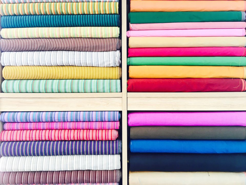 Stack of fabric