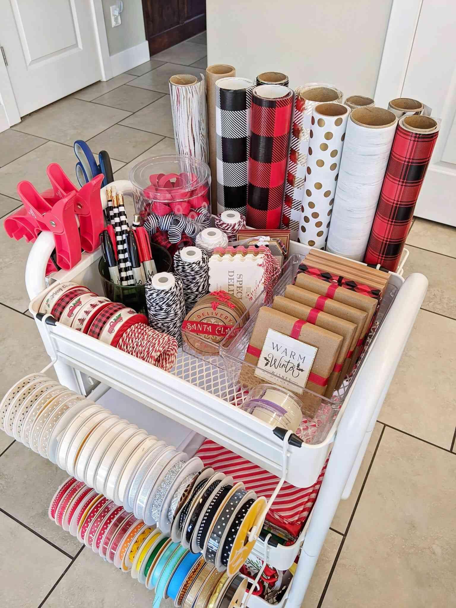 gift wrap cart