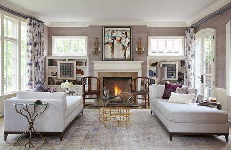Tour A Traditional Home With One Vibrant Color Palette