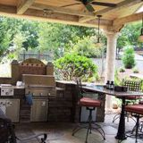 Outdoor kitchens are a must for entertaining outside.