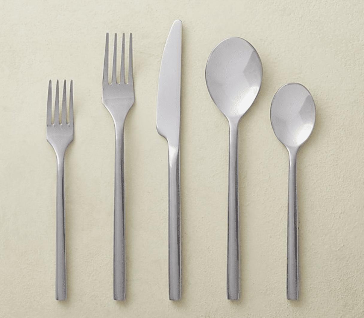 20-piece Rush Shiny Silver Flatware Set