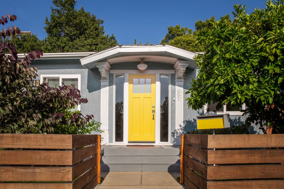 Feng shui yellow west-facing front door