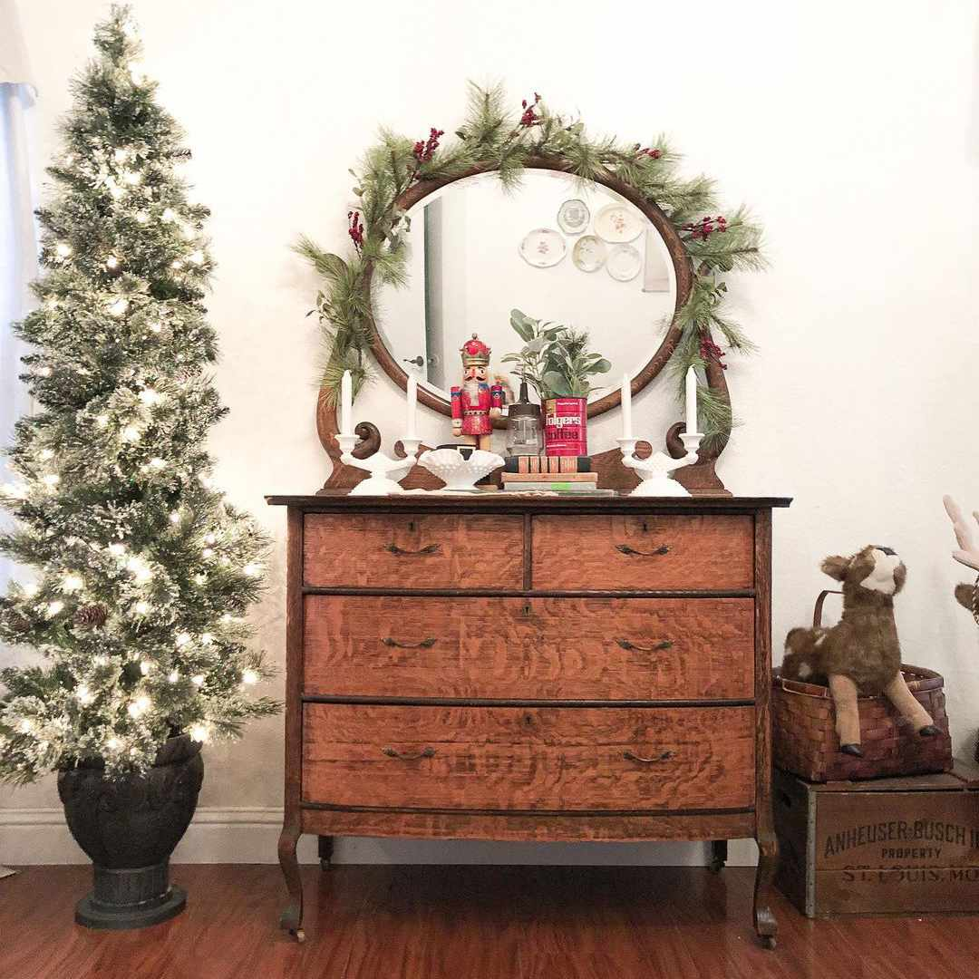 Dresser and Christmas tree